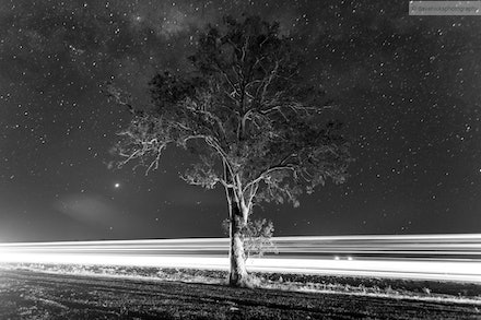 Stars and Light B&W, Scenic Rim, QLD - I went out for an overnight trip 02-03 Oct 13 to the Scenic Rim to specifically get some night shots away from the...