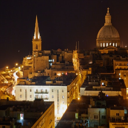 Valletta churches by night - Malta  