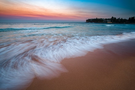Cleanse the Dust - One calmly painted sunset over Dee Why beach