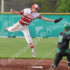 Crown Point vs. Valpo - 5/11/16 - Evan Walls scored from second base on a wild pitch in the bottom of the seventh to lift Valpo to a 4-3 win over Crown...