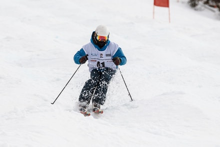 140819_Moguls_6406 - Athlete competing during day 1 of the Canon Australian Freestyle Mogul Championships at Perisher, NSW (Australia) on August 19 2014....