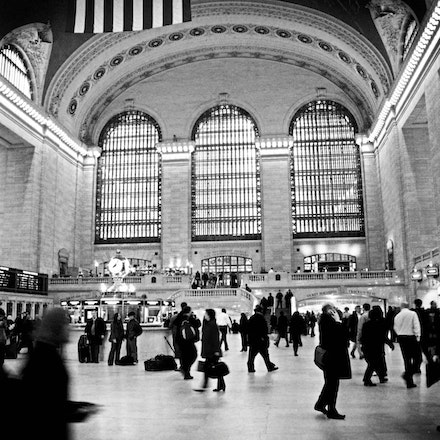Grand Central Station in Black and White, New York City - Copyright © 2015 Melissa Fiene Photography. All rights reserved. All images created by Melissa...