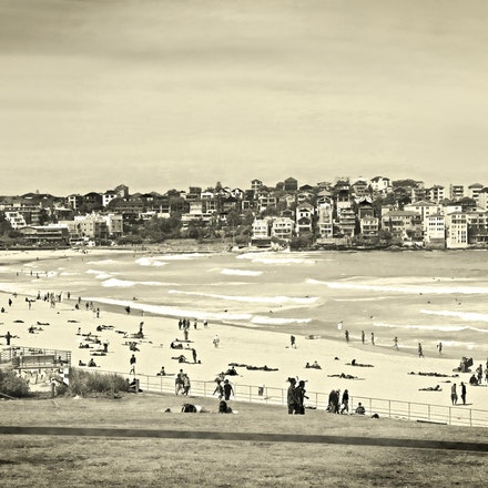Bondi Beach in Sepia - Copyright © 2015 Melissa Fiene Photography. All rights reserved. All images created by Melissa Fiene are © Melissa Fiene Photography.