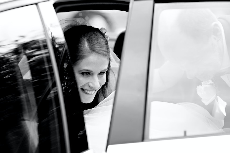 015 | Bride arriving at her wedding. Her expression says it all - TO VIEW IMAGES IN FULL SCREEN, PLEASE CLICK THE PLAY SLIDESHOW BUTTON ON THE BOTTOM RIGHT