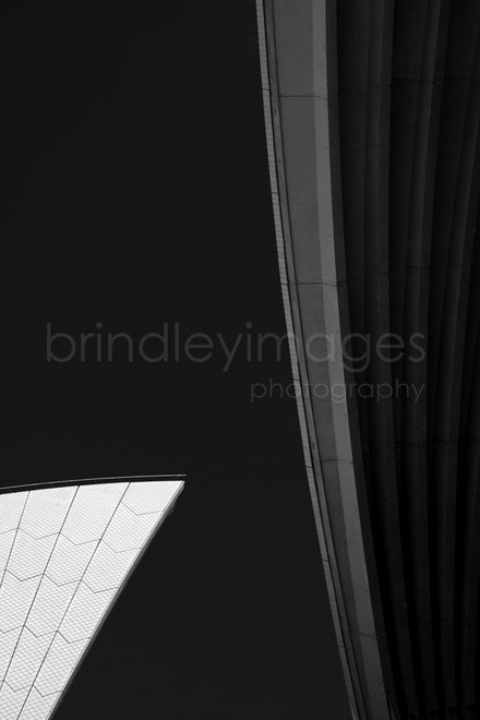 Variation on a theme by Utzon #22 - Detail of the Sydney Opera House one of the architectural wonders of the world.