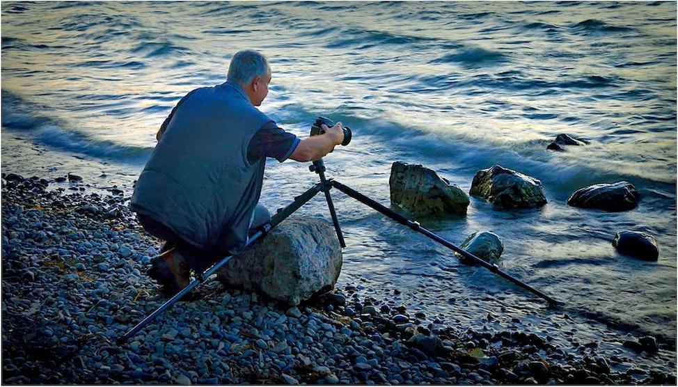 Ian-At-Whitefish-Lake-Sept2013-04x07 - Ian, shooting Whitefish Lake