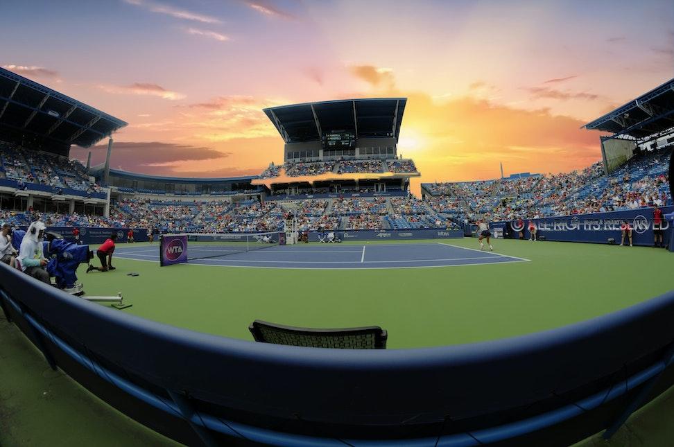 2016 WSOpen-Semifinals weather-sunset