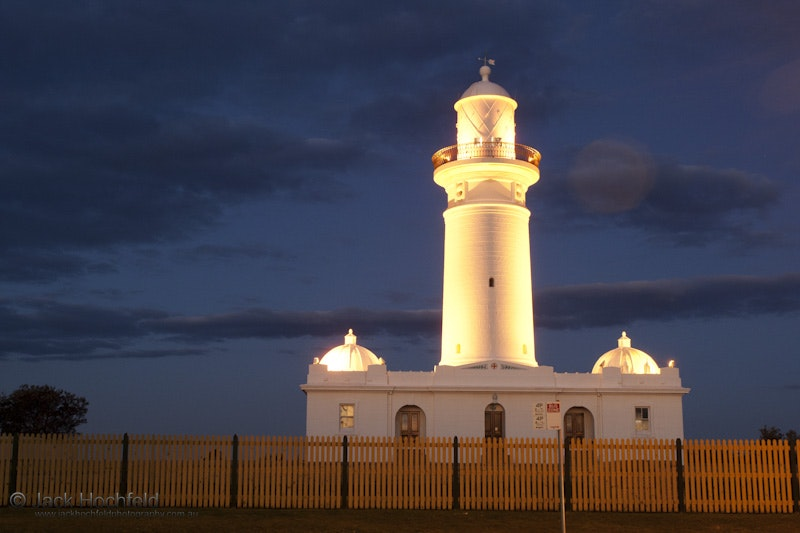 Maquarie lighthouse - Maquarie lighthouse at night, Sydney