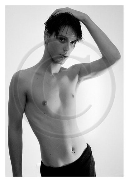 AL12401 - Signed Male Semi-Nude Photo Art by Jayce Mirada