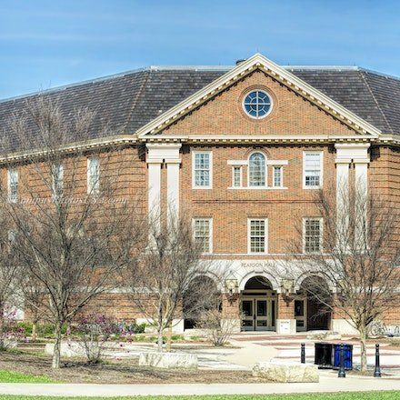 Pearson Hall, Miami University/Color Photo1632_999_003_Pano1 - Photo by Campus Photos USA. Pearson Hall, located on the college campus of Miami University,...
