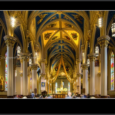 Basilica.Sacred.Heart_Notre.Dame_interior_Color.Photo_8 x 10_7588 - Photo by Campus Photos USA. The Basilica of the Sacred Heart Church, Notre Dame University...