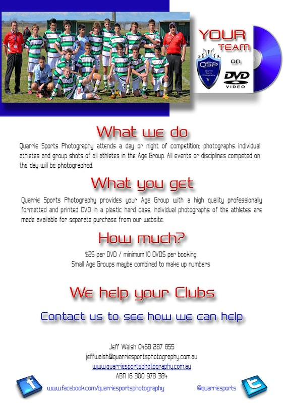 DVD poster - Flyers - QSP - athletics - website