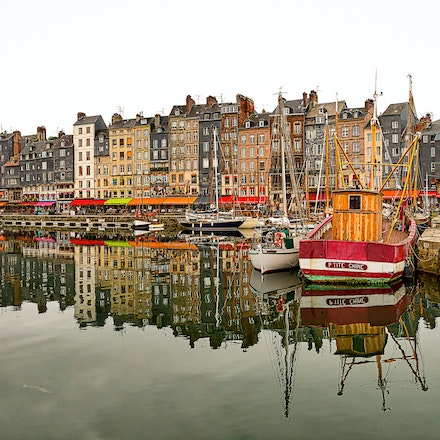 2016 - Honfleur - Normandy - Honfleur is especially known for its old, beautiful picturesque port, characterised by its houses with slate-covered frontages,...
