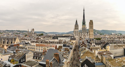 167 - Rouen - 15--10-16-1035-Pano-Edit - Pano taken from on top of the old clock tower