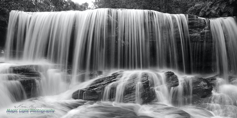 Lower Somersby Falls 06 April 2015 IMG_0119 1500 panorama BW