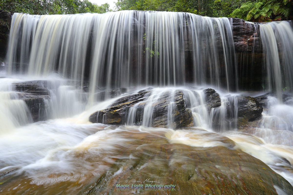Lower Somersby Falls - The lower falls at Somersby Falls after heavy rain. Taken on the 6th April, 2015. (Image No. IMG_0119)