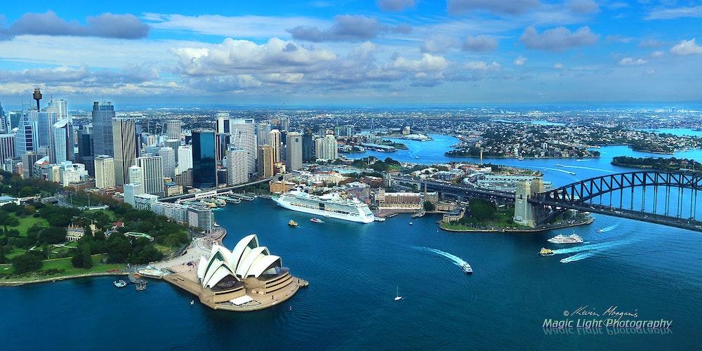 Sydney harbour Aerial 12 Apr 2015 IMG_0245 1500 panorama