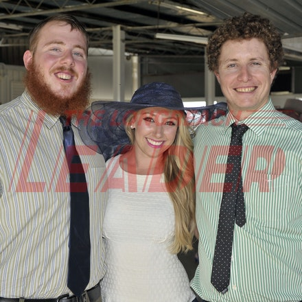 160312_SR29878 - Fergus Emmott, Jordan Debono, Harry Peacey at the Longreach Races, Saturday March 12, 2016.  sr/Photo by Sam Rutherford