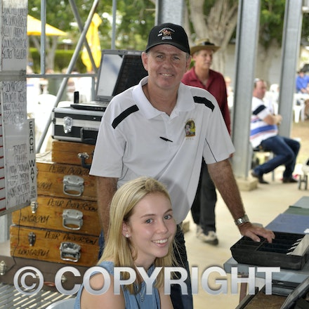 160312_SR29895 - Lucy and Shaun Harris at the Longreach Races, Saturday March 12, 2016.  sr/Photo by Sam Rutherford