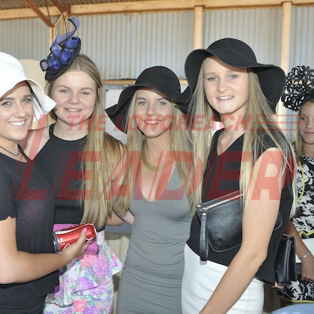 151003_SR22216 - Sammi, Holly, Libbi and Ruby Dolgner at the Jundah Cup day races, Saturday October 3, 2015.  sr/Photo by Sam Rutherford
