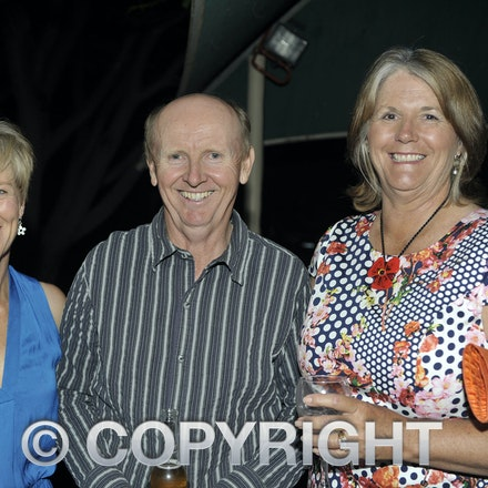 151031_SR23903 - Sally & Alec Graham, Jenny Deane at the Rotary function held qat the Jumbuck Motel, Longreadch, Saturday October 31, 2015.  sr/Photo by...