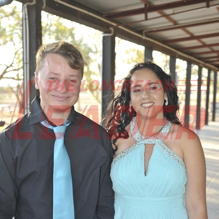 151120_SR27431 - Justin Everitt, Cheyenne Weldon at the Longreach State High School formal, Friday November 20, 2015.  sr/Photo by Sam Rutherford