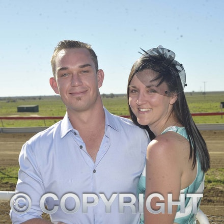 160709_SR22478 - Nathan Roach and Sarah Whitwell at the Ilfracombe Races, Saturday July 9, 2016.  sr/Photo by Sam Rutherford