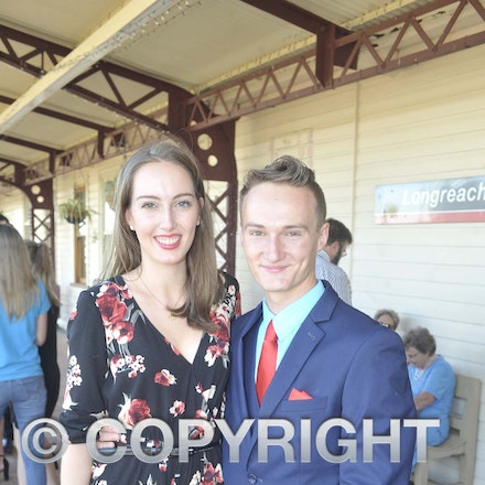 161118_SR24924 - Bella and Lochie Smith at the Longreach State High School's Year 12 Formal photo call at the Railway Station, Friday November 18, 2016.