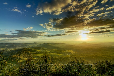 sunset on top of Cooroora Mt